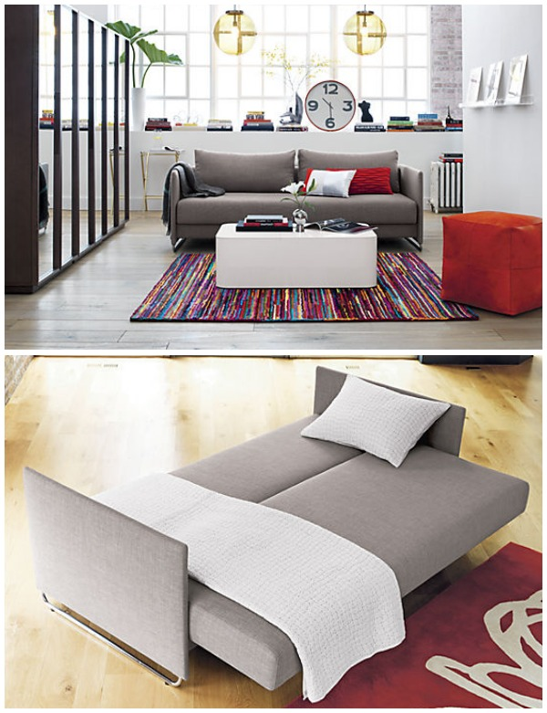 View in gallery light grey sleeper sofa - Small And Stylish Sleeper Sofas