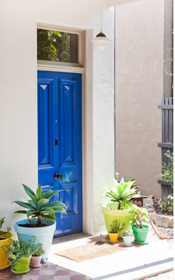 blue front doorsMake a Dramatic First Impression 15 Painted Front Doors