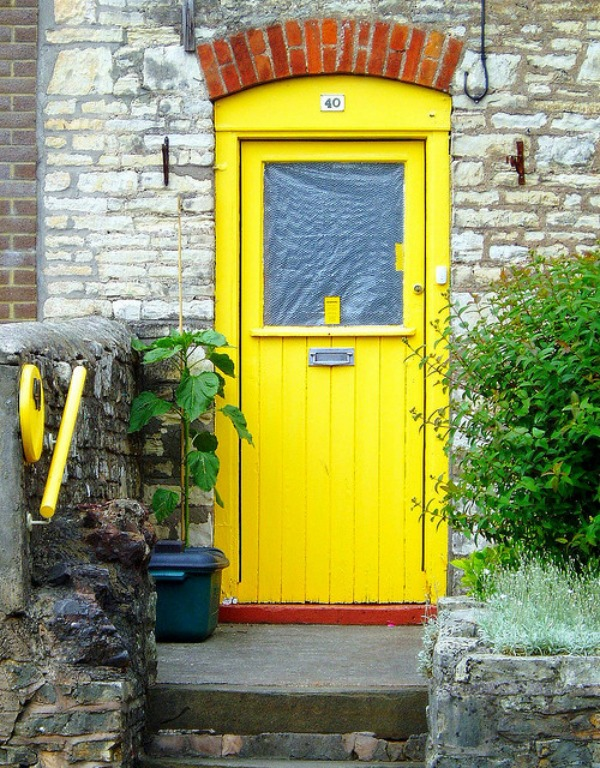 yellow front door designs 7 Make a Dramatic First Impression: 15 Painted Front Doors