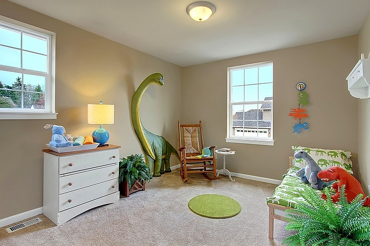 3D dinosaur wall additions add a whole enw dimension to the kids' room