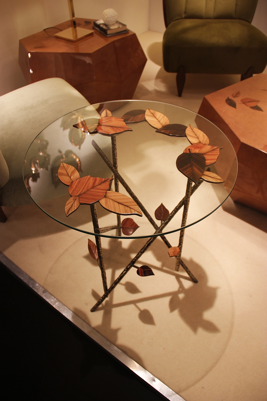 A coffee table that is inspired by the fall!