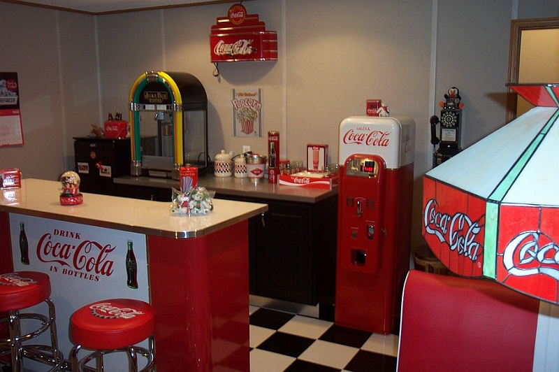 A family room addition that is all about Coca-Cola!