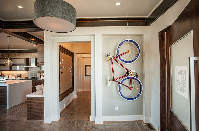 Creative bike storage display ideas for small spaces for Quirky apartment design
