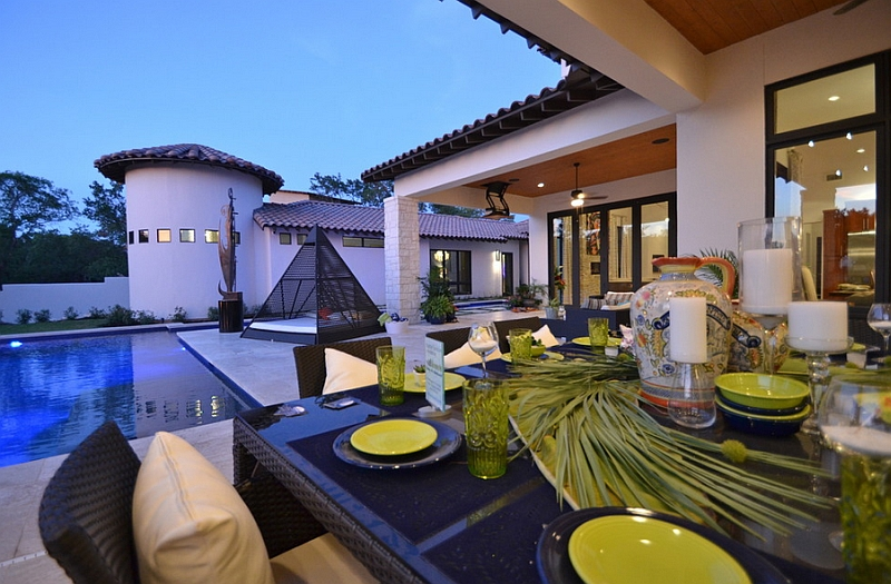 Add a dining area to complement the outdoor bed