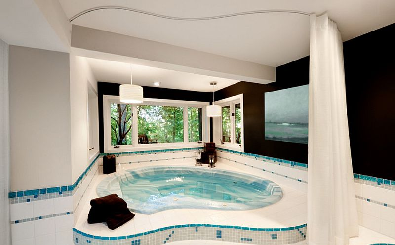 Amazing home spa exudes lavish comfort