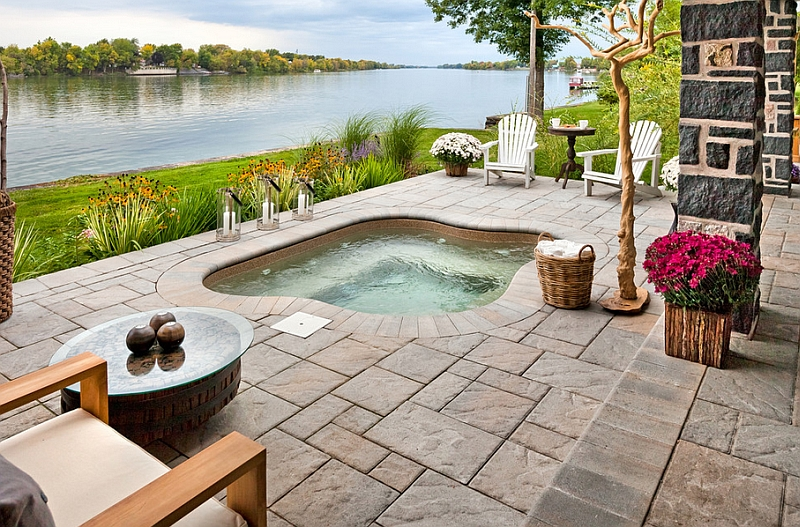 An outdoor space with hot tub that truly epitomizes the spirit of summer Hot Outdoor Design Trends For Summer 2014