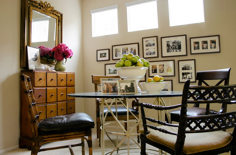 View In Gallery Apothecary Chest In The Dining Area Serves As The Perfect  Side Table