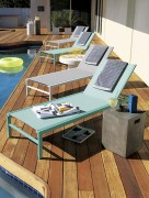 Aqua sun lounger