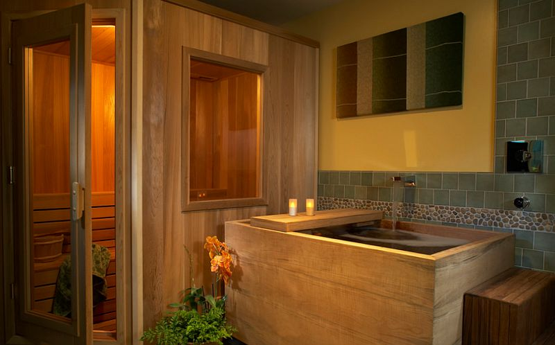 How to bring home spa like opulence with amazing hot tubs for Hot bathroom