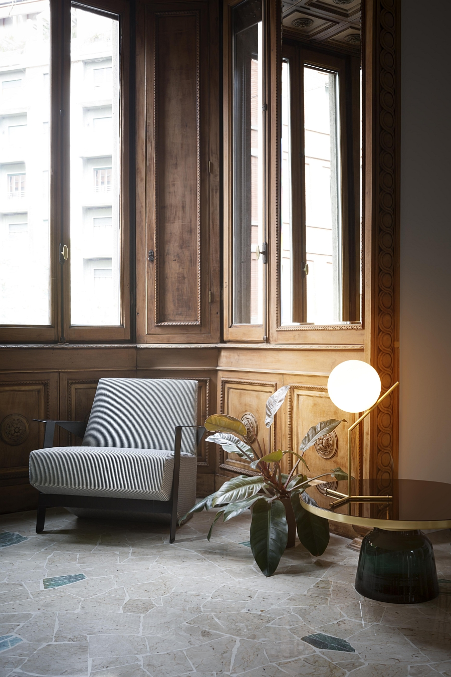 Beautiful FLOS lights for the living room