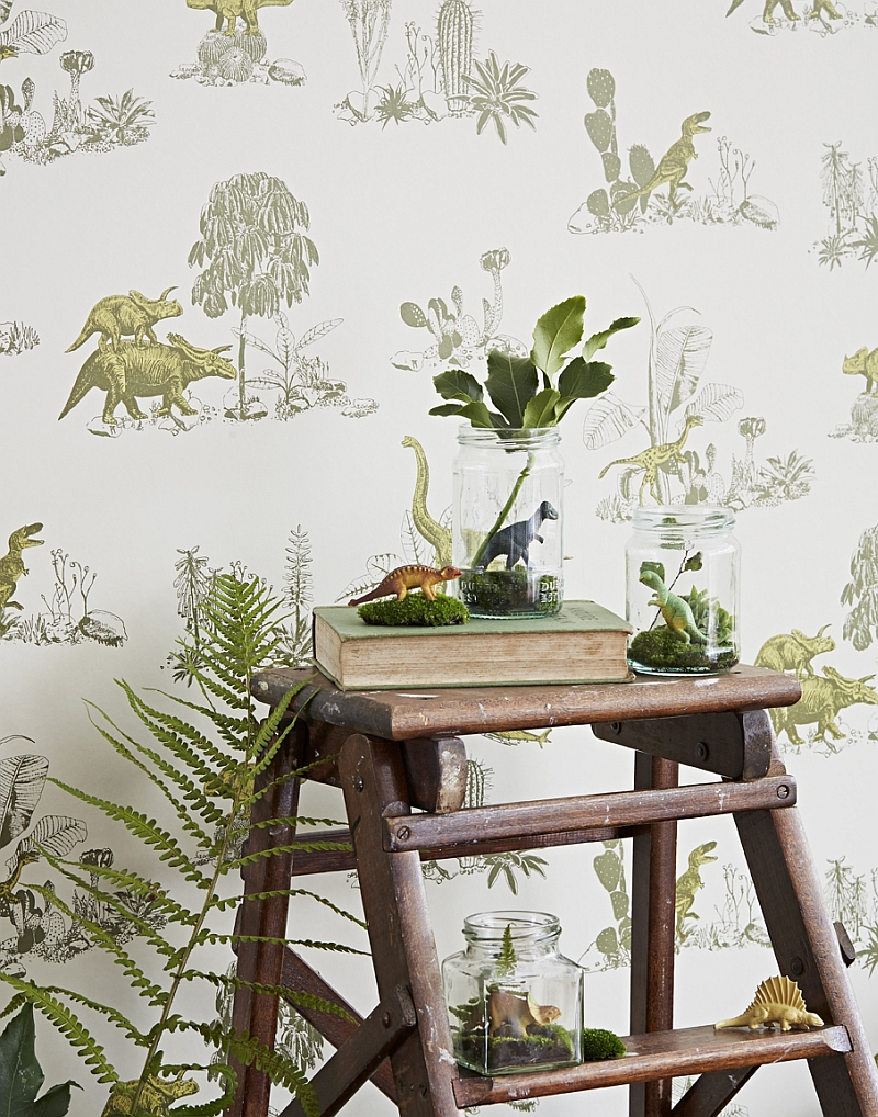 Beautiful and elegant magnetic wallpaper with dino theme