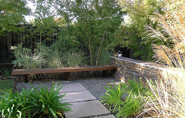 Beautiful blend of gray and brown in an outdoor space