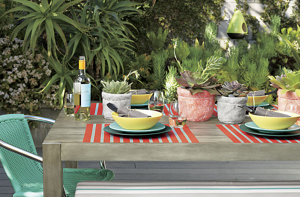 Beautifully set outdoor table