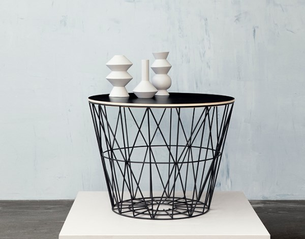 Black wire basket and top from ferm LIVING