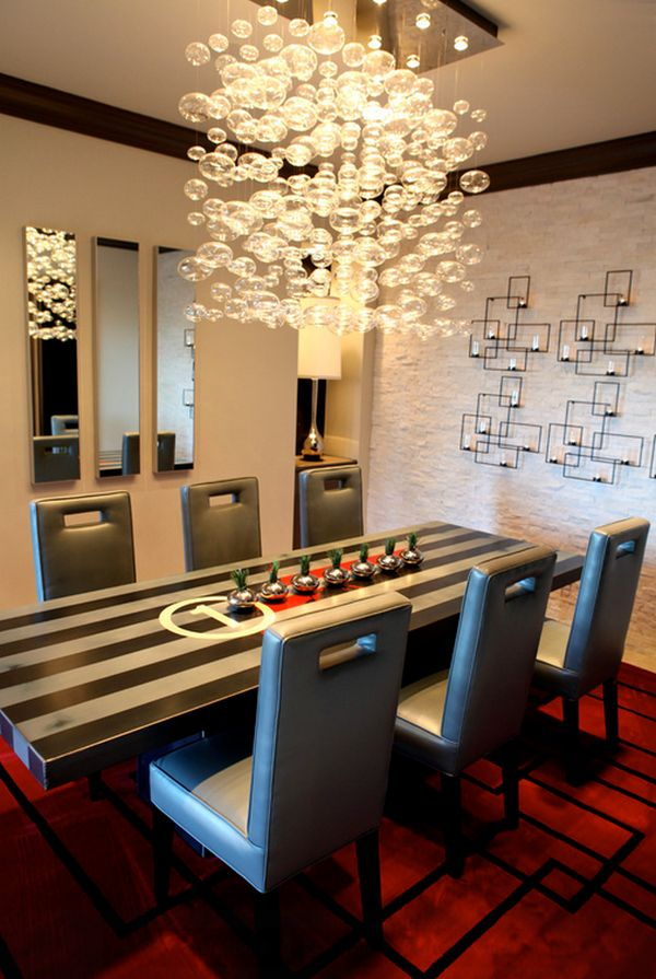 view in gallery boxes wall sconces in the dining room - Contemporary Dining Room Chandelier