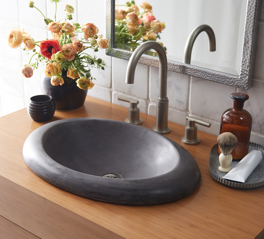 Stone Sink Cleaner : Eco-Conscious, Artisan-Crafted Sinks Sparkle With Contemporary Class