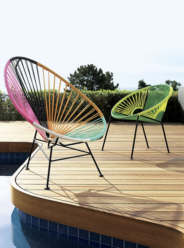 Colorful PVC cord chairs