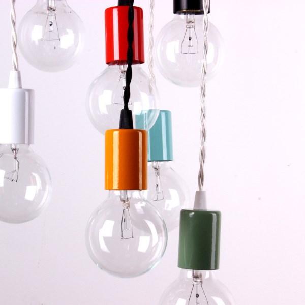 Colorful compact pendant lamps