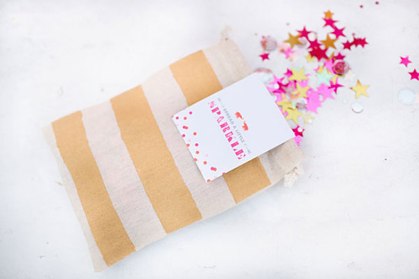 Confetti bag DIY party favor idea
