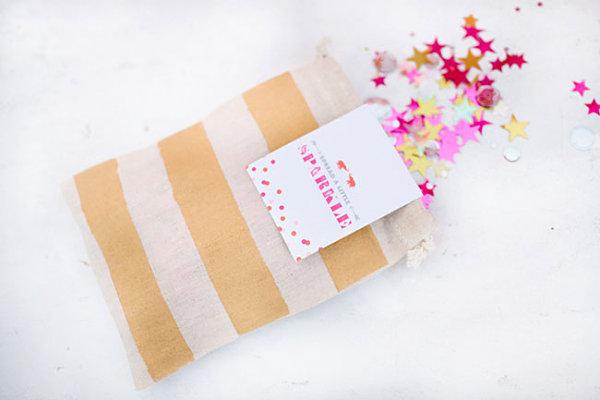 Confetti bag DIY party favor idea
