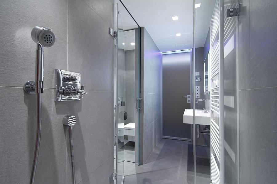 Contemporary bathroom in grey