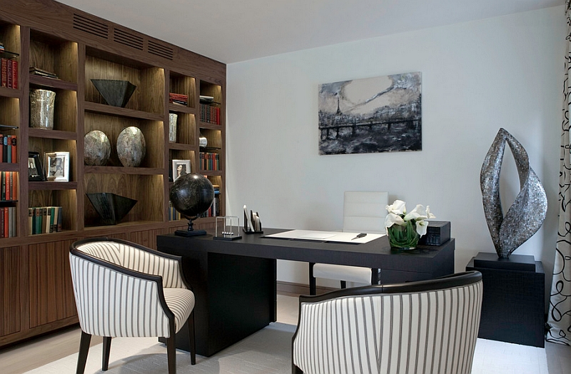 Contemporary home office keeps things simple and elegant