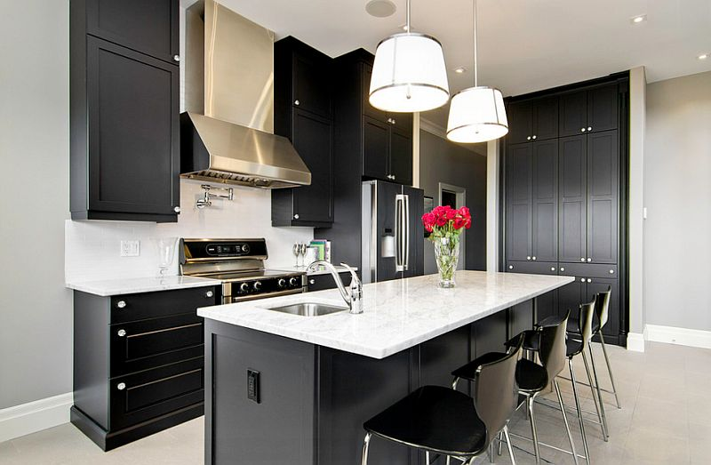 Groovy Black And White Kitchens Ideas Photos Inspirations Best Image Libraries Weasiibadanjobscom