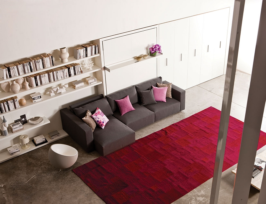 Transformable Murphy Bed Over Sofa Systems That Save
