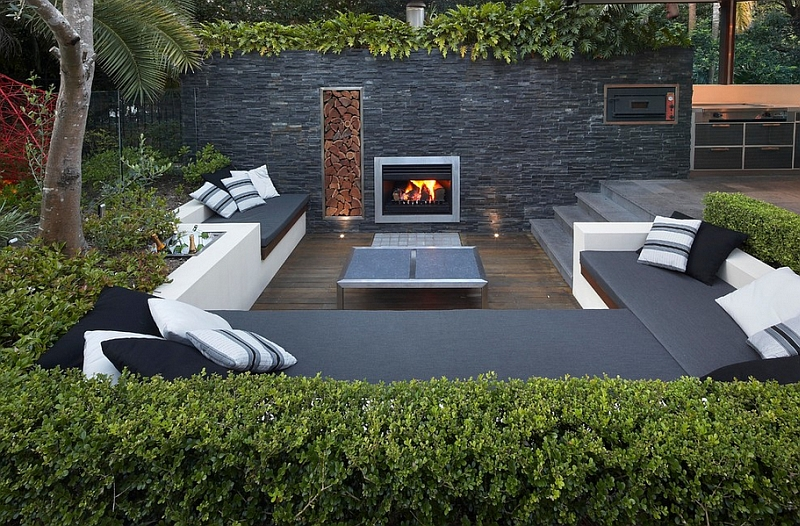Contemporary Patio In Sydney With A Trendy Sunken Lounge