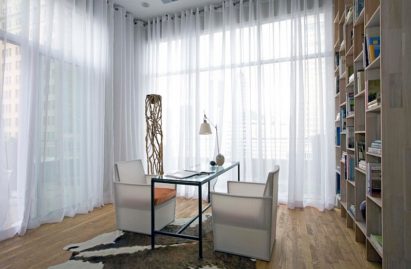Control the naural light with some lovely sheer curtains