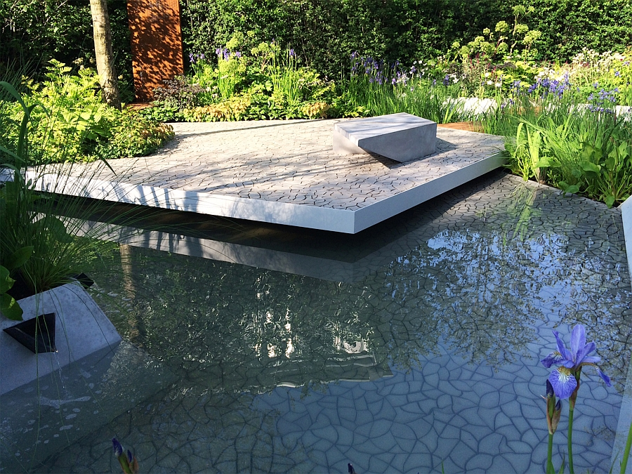 Cracked Earth by Kaza Concrete used by Hugo Bugg at the Chelsea flower show Cracked Earth Concrete Tiles Debut In Style At The RHS Chelsea Flower Show 2014