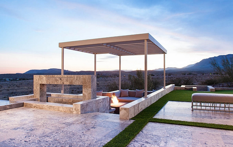 Create a dynamic interplay between different levels of the patio
