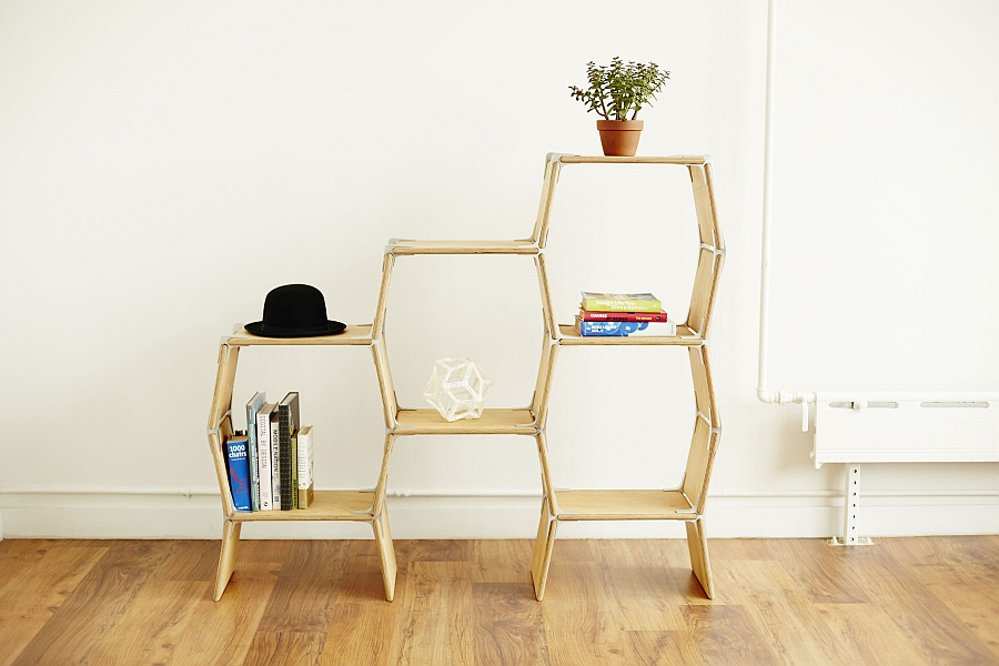 Create your own personal shelf design with Modos Modular Furniture System