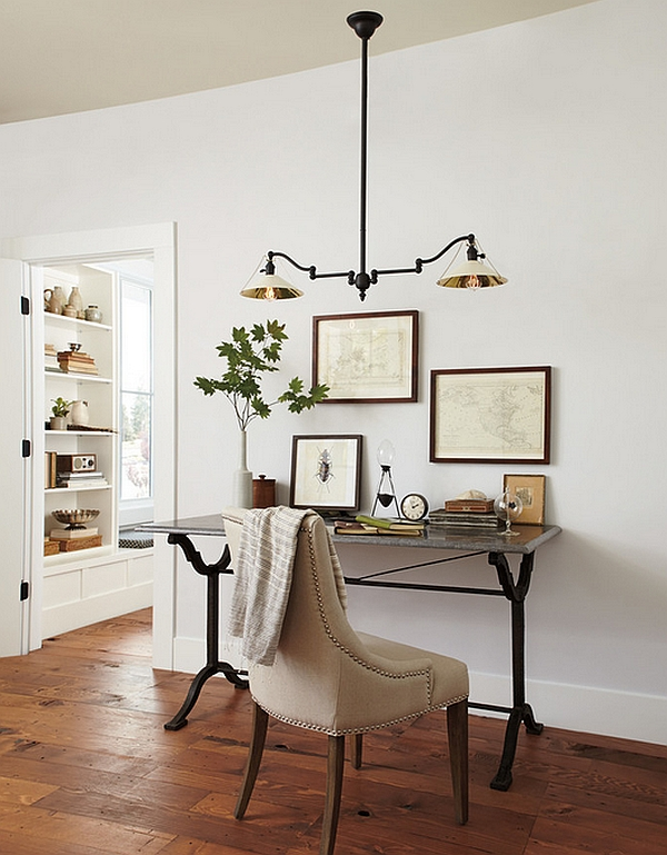 lighting in an office. view in gallery creating a simple home office small space by rejuvenation light lighting an
