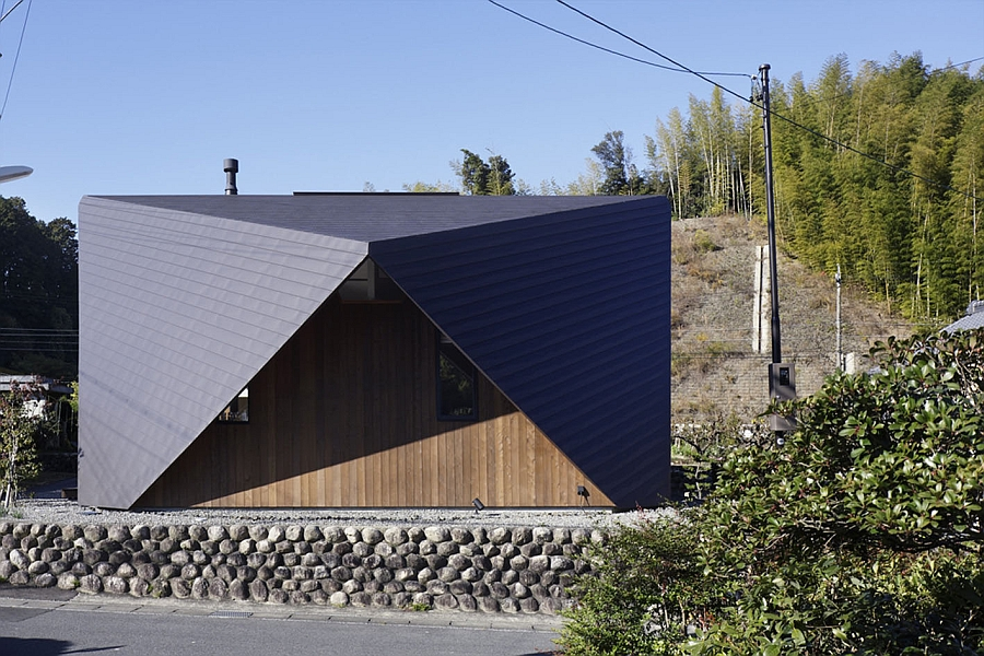 Creative use of landscape shapes the Origami House