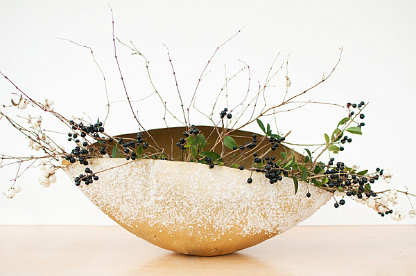 DIY gold frosted bowl