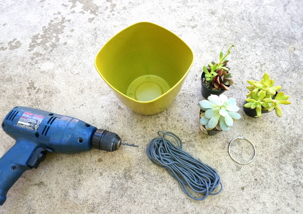 DIY hanging planter supplies
