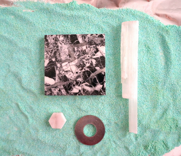 DIY mineral scape project supplies
