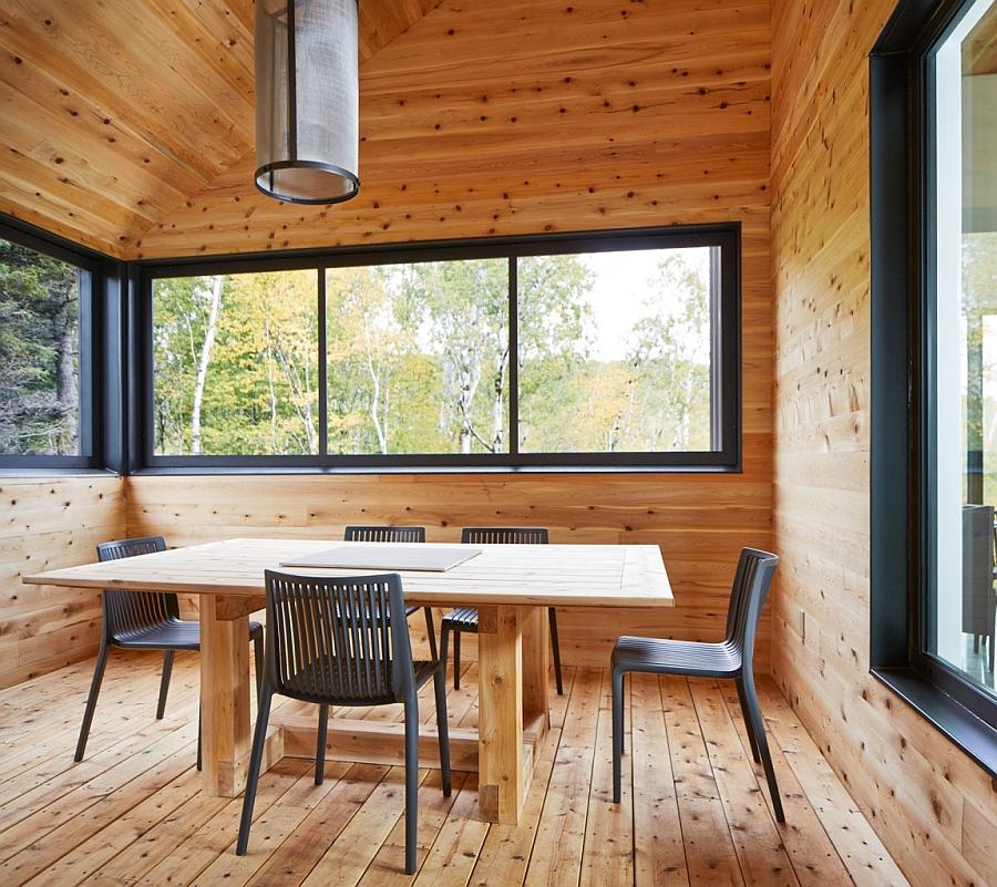 Elegant dining area with simple decor