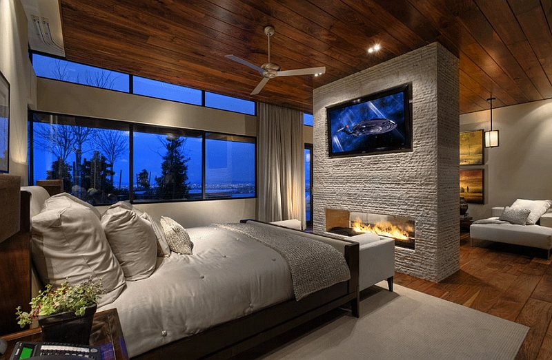 Tv above fireplace design ideas for Master bedroom fireplace