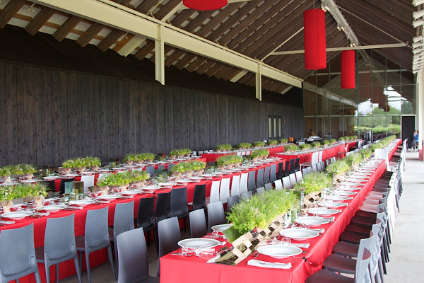Event by Ron Wendt Design One Red Tablecloth, Three Table Setting Ideas!