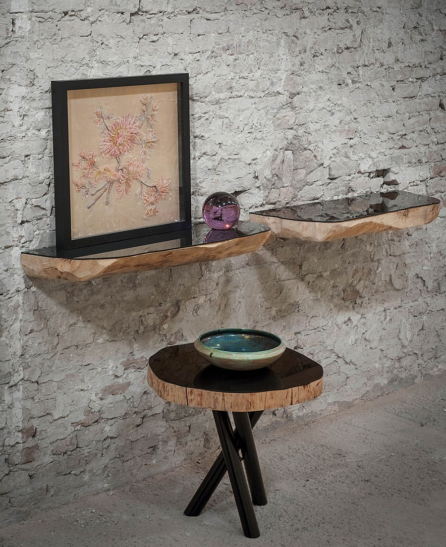 furniture made from tree trunks. View In Gallery Exquisite Tree Trunk Shelves With A Modern, Polished Surface Furniture Made From Trunks K