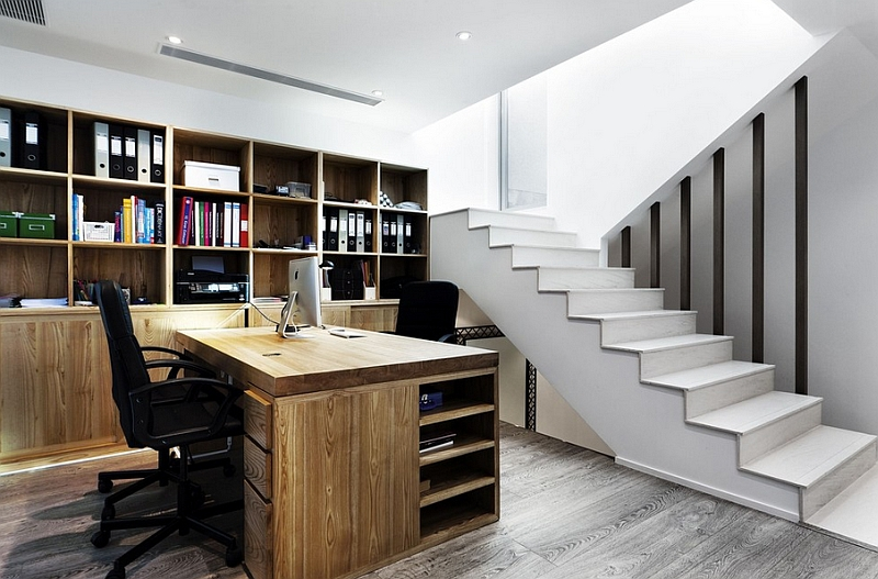 Fabulous home office in the basement
