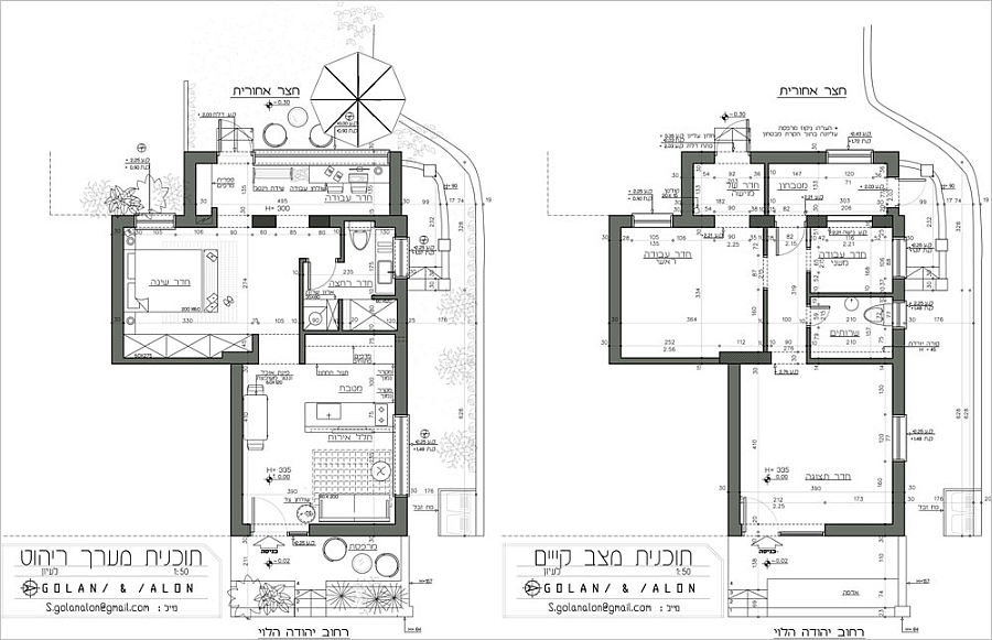 Floor plan before and after the renovation
