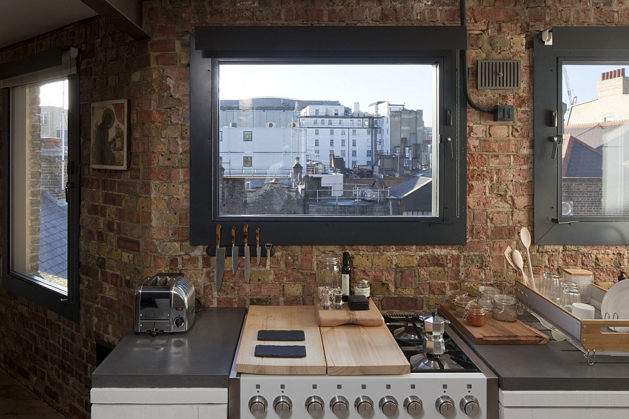Framed views of London from the smart kitchen