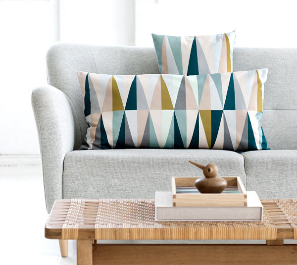 Geometric canvas pillows Five Design Trends Making An Impact This Season