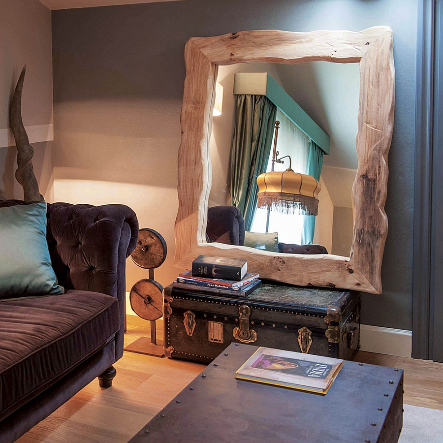 Give the bedroom a revamp using a mirror with wooden frame