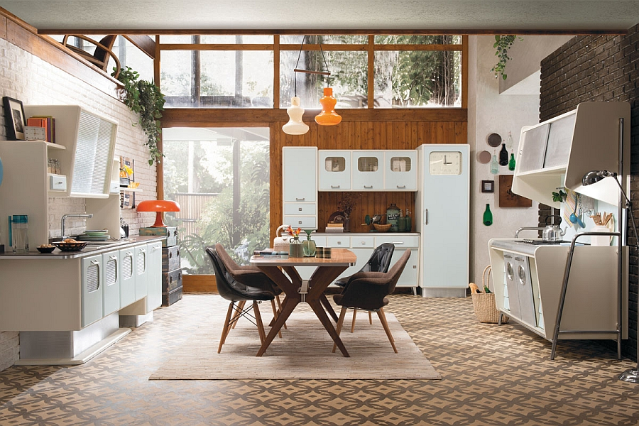 view in gallery give your home a vintage vibe with the saint louis kitchen vintage kitchen offers a refreshing modern take on fifties style  rh   decoist com