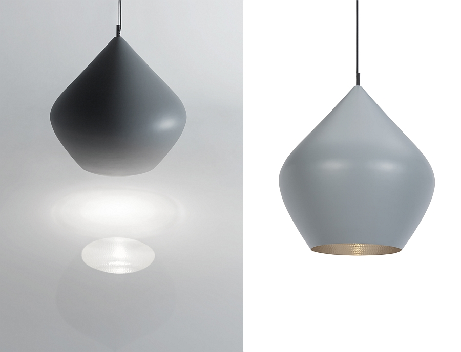 Gorgeous and minimal Beat pendants in Grey by Tom Dixon