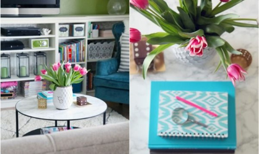Furniture Makeovers with Contact Paper
